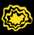 black and yellow cut paper wave circle vector image