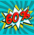 blue sale web banner sale sixty percent 60 off on vector image vector image