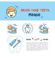 brush your teeth children card child dental vector image vector image