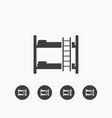 bunk bed icon simple vector image vector image