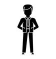businessman hands back icon vector image vector image