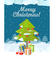 Christmas greeting card Merry Christmas and Happy vector image vector image