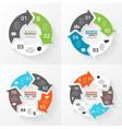 circle arrows infographics set Template vector image