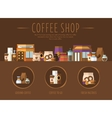 Coffee Shop Flat vector image