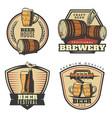 colorful vintage brewing emblems set vector image vector image