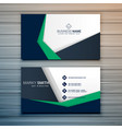 company business card design with abstract vector image vector image