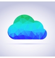 Creative icon clouds triangles vector image