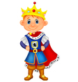 Cute boy cartoon with king costume vector image vector image