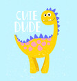 cute dino print vector image
