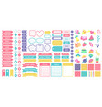 cute planner stickers organizer tags color vector image vector image