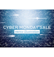 Cyber Monday Technological Background vector image vector image