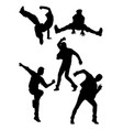 dancer pose activity silhouette vector image vector image