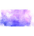 decorative banner with watercolour texture vector image vector image