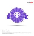 diamond icon - purple ribbon banner vector image