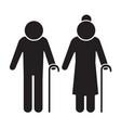 elder people icon design vector image