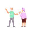 elderly people characters vector image vector image