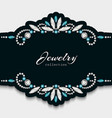 elegant jewellery frame with diamond ornament vector image