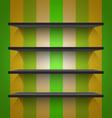 Empty black shelves vector image vector image