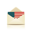 envelope letter flag of america vector image