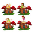 fairy angel on the wood vector image