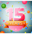 Fifteen years anniversary celebration background vector image vector image