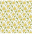 floral elements pattern vector image vector image