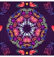 Flowers seamless round pattern decorative vector image vector image