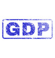 gdp rubber stamp vector image vector image