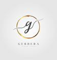 gold elegant initial letter type g vector image vector image