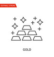 gold icon thin line vector image vector image