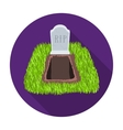 Grave icon in flat style isolated on white vector image vector image