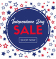 independence day sale shop now banner template vector image