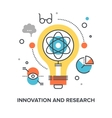 innovation and research vector image