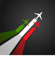 Italy plane vector image vector image