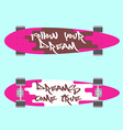 Longboard top and bottom view vector image