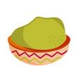 may cinco guacamole in bowl food vector image vector image