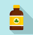 mint syrup icon flat style vector image