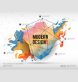 modern abstract background with paint spot and vector image vector image