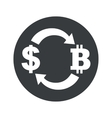 Monochrome dollar bitcoin exchange icon vector image vector image