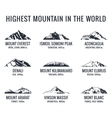 Mountain tourist logos set Posters vector image vector image