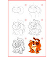 page shows how to learn to draw step step cute vector image vector image