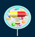 pharmaceutics pills medicine on a platter vector image