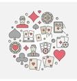 Poker colorful circular vector image vector image
