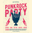 punk rock party flyer poster vector image vector image