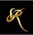 r letter logo vector image vector image