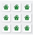 Real Estate House Flat Icons Set vector image
