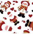 Santa and snowman pattern vector image
