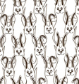 Seamless pattern of funny bunnies vector image vector image