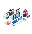 selfie clip art isometric style vector image
