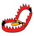 sharp metal trap icon icon cartoon vector image vector image